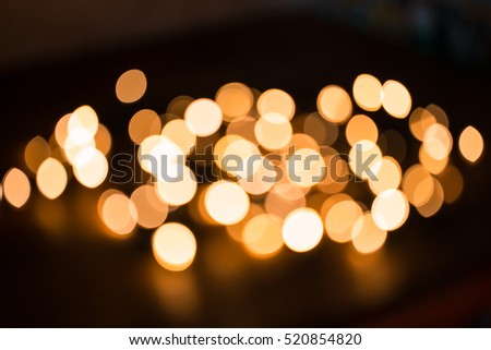 Defocused gold abstract Christmas Glitter Lights bokeh Background #520854820