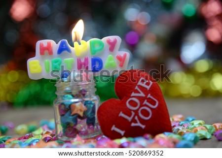 Gradient background of the sentence happy birthday