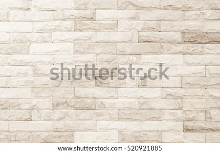 Black and white brick wall texture background / Wall texture background flooring interior rock stone old pattern clean concrete grid uneven bricks design stack. #520921885