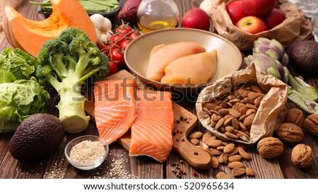 healthy food concept #520965634