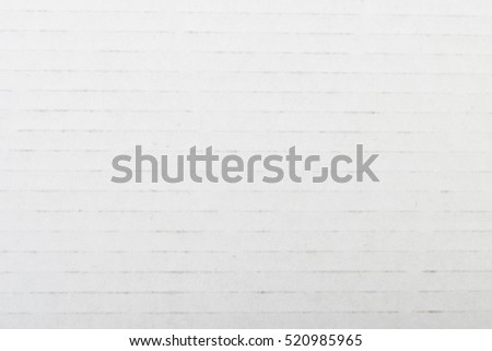 Striped cardboard white paper background. Recycled. #520985965