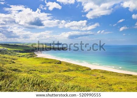 Irish landscape in northern Ireland (County Antrim - United Kingdom) #520990555