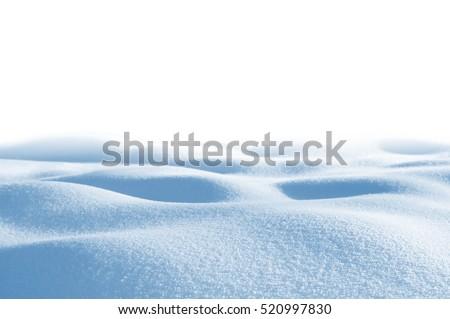 Snowdrift isolated on white background for design #520997830