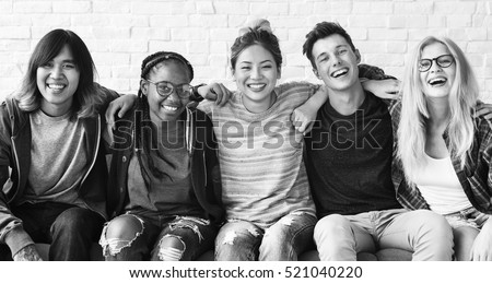 Diversity Students Friends Happiness Concept Royalty-Free Stock Photo #521040220