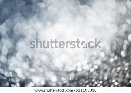 Sparkling, blinking blue bokeh background - Christmas lights #521103010