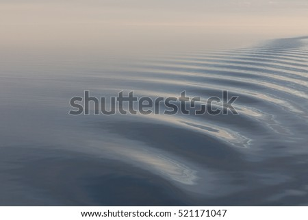 Tranquil sea with soft colours.