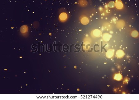 Gold abstract bokeh background Royalty-Free Stock Photo #521274490