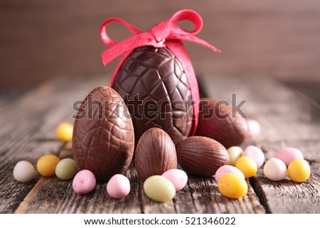 easter egg chocolate Royalty-Free Stock Photo #521346022