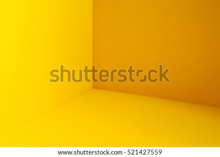 Empty yellow room corner Royalty-Free Stock Photo #521427559