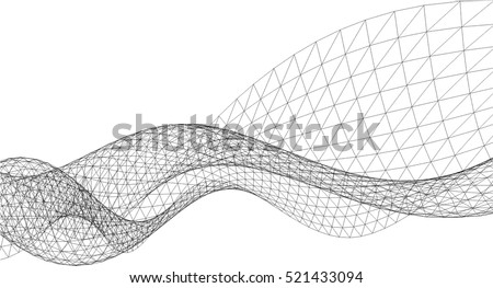 Architectural drawing. Geometric background Royalty-Free Stock Photo #521433094