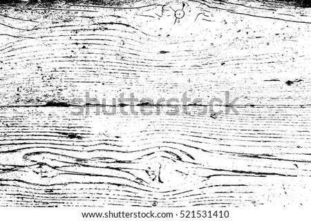 Distress Dry Wooden Overlay Texture For Your Design. EPS10 vector.  Royalty-Free Stock Photo #521531410