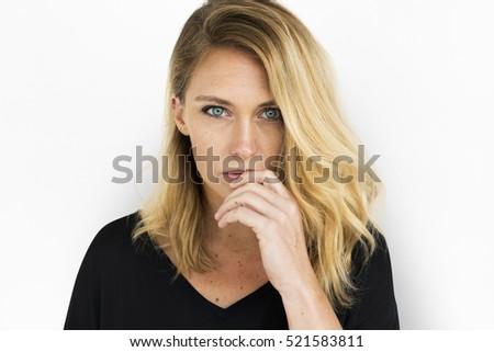 Woman Posing Studio Portrait   #521583811