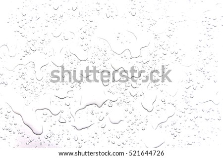The concept of water drops on a white background Royalty-Free Stock Photo #521644726