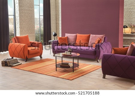 Modern Sofa in Luxury Living Room #521705188