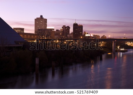Downtown of Memphis, Tennessee, USA