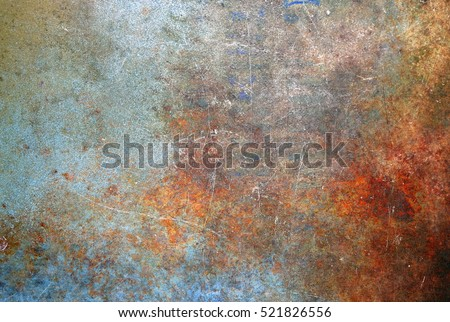 Rusted metal texture Royalty-Free Stock Photo #521826556