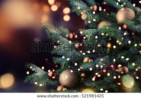 Christmas tree  Royalty-Free Stock Photo #521981425