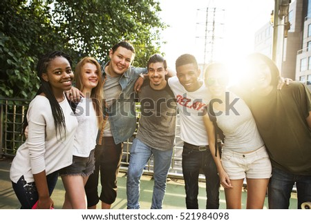 People Friendship Togetherness Huddle Team Unity Concept #521984098