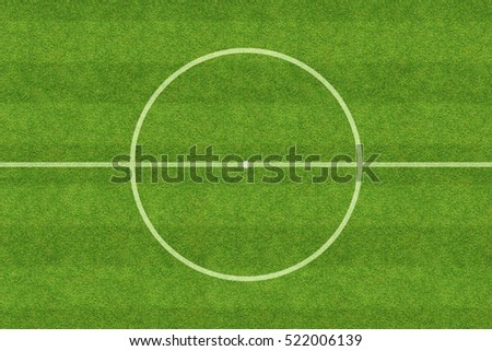 center of soccer field Royalty-Free Stock Photo #522006139