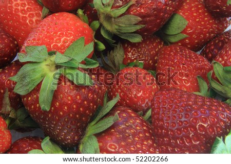 texture of Strawberries
