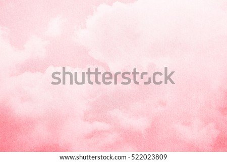soft cloud and sky with pastel gradient color and grunge texture, nature abstract background