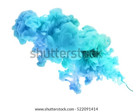 Acrylic colors in water. Abstract background. Isolated. #522091414