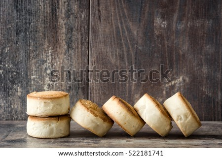 Traditional Christmas shortbread on wooden table  #522181741