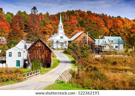 Rural Vermont, USA autumn foliage. #522362191