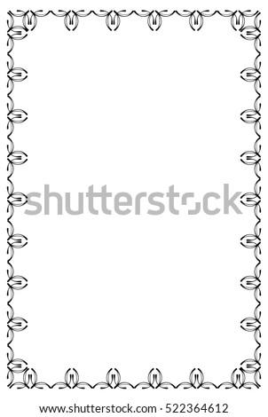 Abstract silhouette vertical frame. Raster clip art.