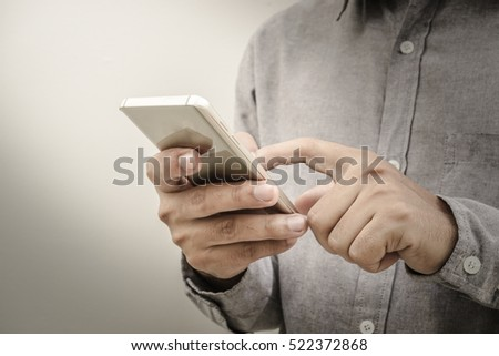 Touch screen smartphone, in hand #522372868