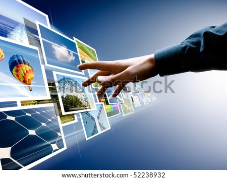 hand reaching images streaming from the deep