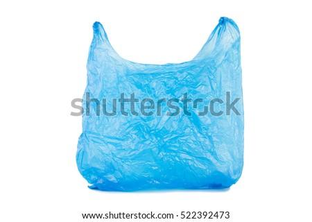 Plastic bag isolated on white background #522392473