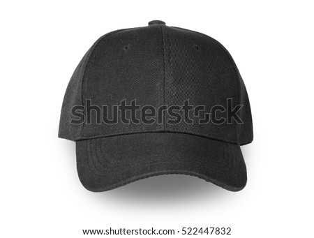 Baseball black cap isolated on white background. This has clipping path.                            #522447832