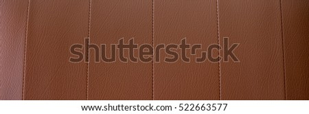 Brown leather form vintage sofa , texture and background #522663577
