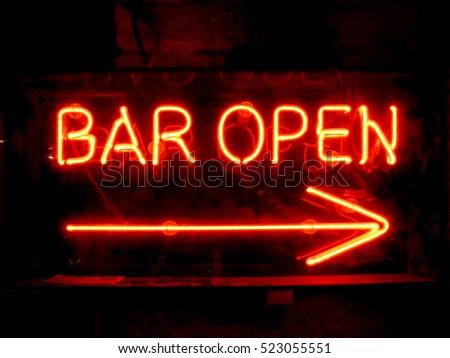 Bright open bar