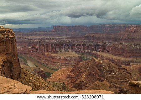 Great views of scenic cliffs in Canyonlands national Park,Utah, USA. #523208071