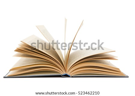open book on white background Royalty-Free Stock Photo #523462210
