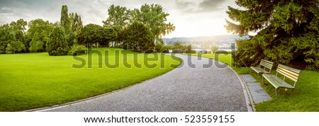 Panorama of a beautiful city park #523559155