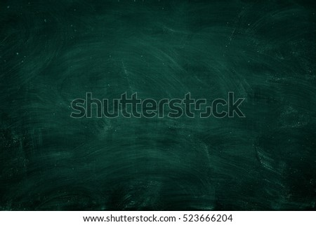 Abstract Chalk rubbed out on blackboard for background. texture for add text or graphic design. education concept, #523666204