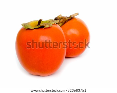 Persimmon fruit isolated on white background.  #523683751