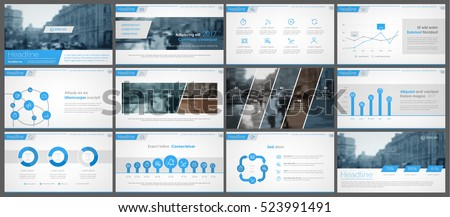 Blue elements for infographics on a white background. Presentation templates. Use in presentation, flyer, corporate report, marketing, advertising, annual report Royalty-Free Stock Photo #523991491