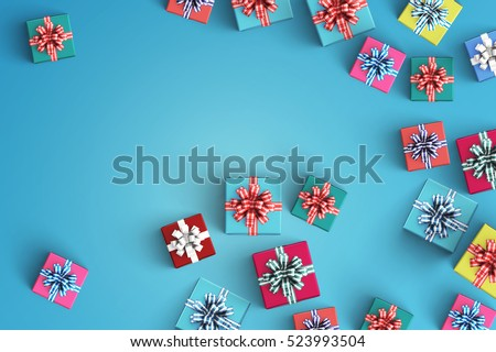 Happy birthday and gift box on color background #523993504