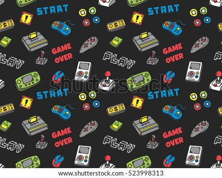 Video game seamless background