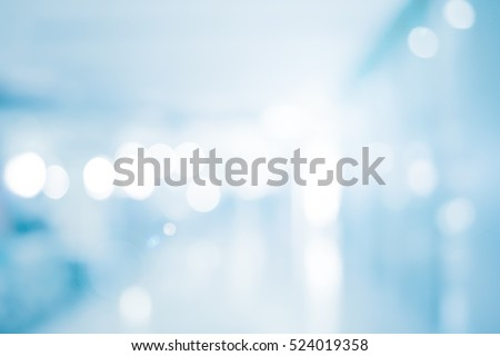 abstract blur blue contemporary office interior blue background concept Royalty-Free Stock Photo #524019358
