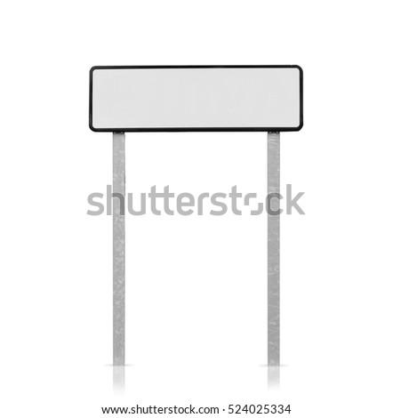 road placard