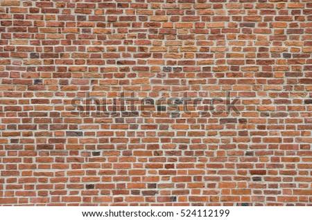 Vintage red brick wall #524112199