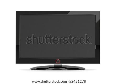 A black generic plasma tv on white background #52421278