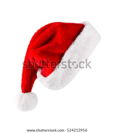 Santa Claus helper hat isolated on white background Royalty-Free Stock Photo #524213956