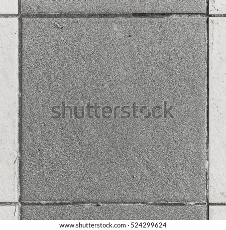 Interior or exterior bathroom or kitchen square ceramic tiles. Image of interior flooring with grey beige pavement slabs. Dimension 20 x 20 cm #524299624