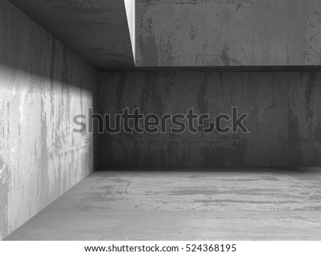 Abstract concrete wall geometric architecture background. 3d renderillustration #524368195